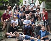 CMT Aussie Kids on steps at camp 2020