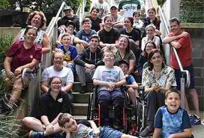 CMT Aussie Kids on steps at camp 2020
