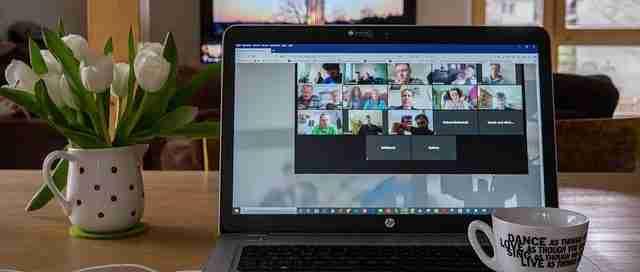 2021 National CMT Seminar on laptop screen